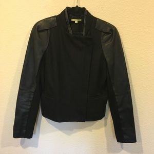 Gianni Bini black leather jacket